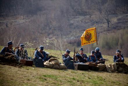 """Fotorelacja z inscenizacji historycznej """"Karpaty 1914 – 1915""""."""